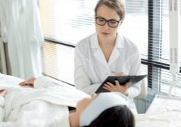 Medical spa health history, aesthetic professional