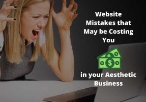 Website mistakes in aesthetic business
